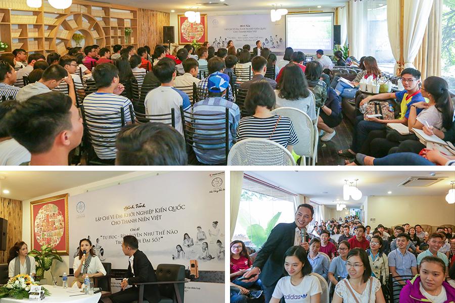 Tinh thần Tự học – chủ đề được hàng trăm bạn trẻ quan tâm tại Tp. HCM và Thái Nguyên