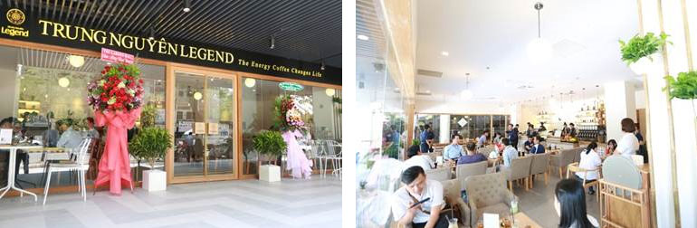 Không gian Trung Nguyên Legend tại The Garden Mall thu hút đông đảo khách hàng tham gia trải nghiệm.