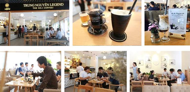 Khách hàng hào hứng trải nghiệm cà phê năng lượng tại Không gian Trung Nguyên Legend The Garden Mall