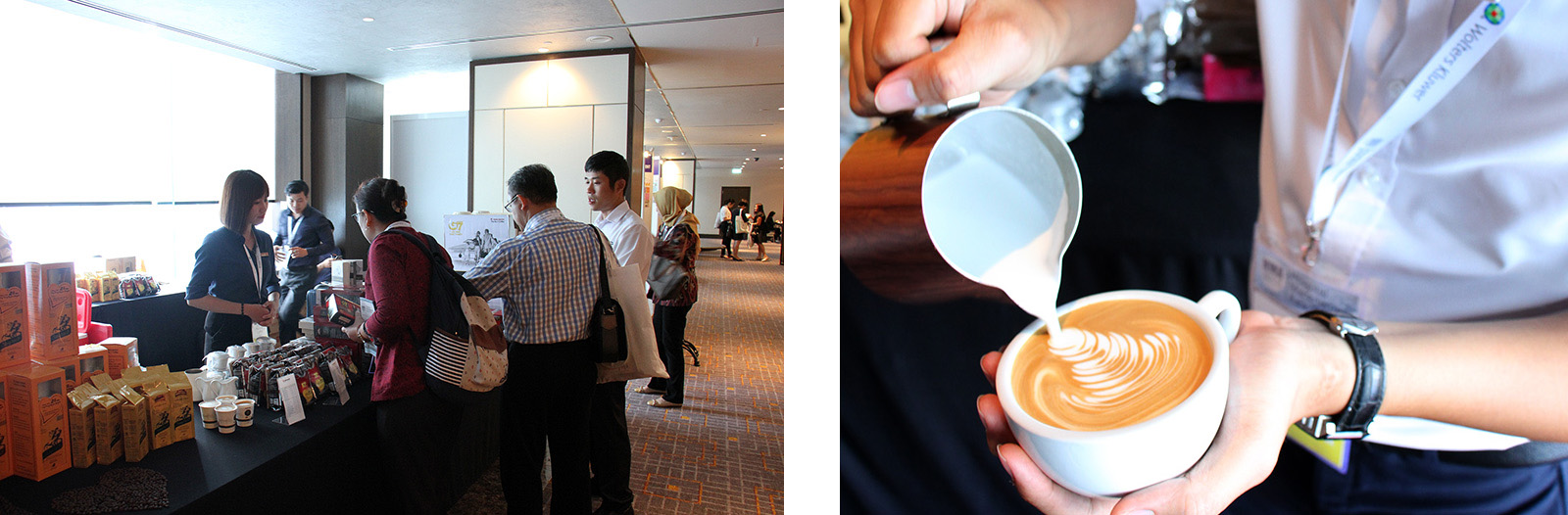 Đến với sự kiện lần này Trung Nguyên phục vụ cà phê G7 3in1, Espresso, Cappuccino cũng như giới thiệu các dòng sản phẩm cà phê năng lượng Sáng tạo 8, Legendee, G7 và đã nhận được sự quan tâm của đông đảo khách mời tham dự sự kiện.