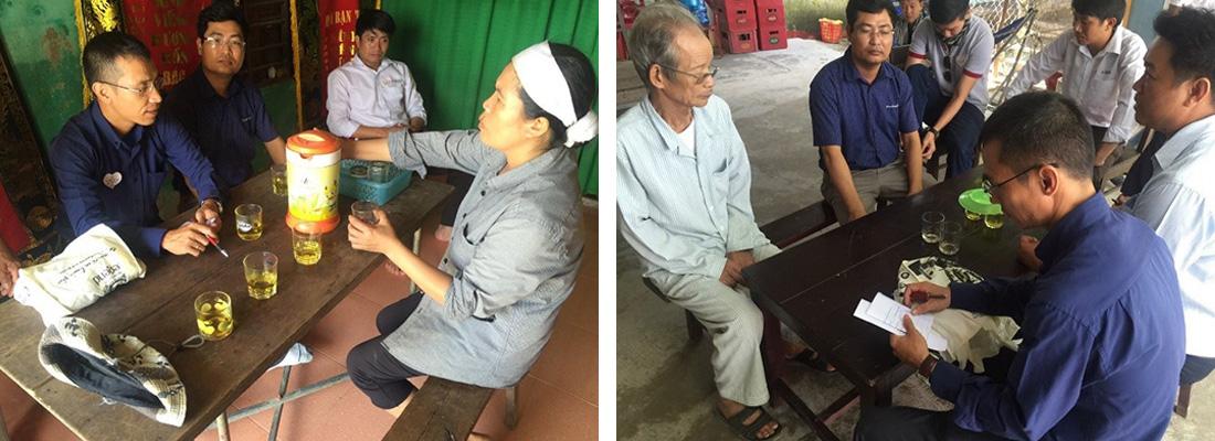 Anh Chị Em Trung Nguyên đã chuyển những lời động viên, thăm hỏi đến từng gia đình với hy vọng bà con có thể nguôi ngoai một phần nào đó nỗi đau, mất mát.