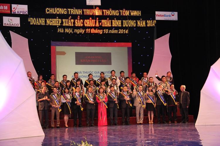 """Trung Nguyên nhận giải thưởng """"Doanh nghiệp xuất sắc Châu Á – Thái Bình Dương 2014"""""""