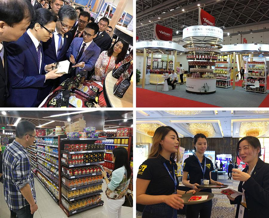 Sản phẩm cà phê năng lượng của Trung Nguyên Legend luôn là thương hiệu cà phê Việt Nam tiêu biểu tham gia tất cả các hội chợ triển lãm, sự kiện lớn mang tính quốc tế tại thị trường Trung Quốc