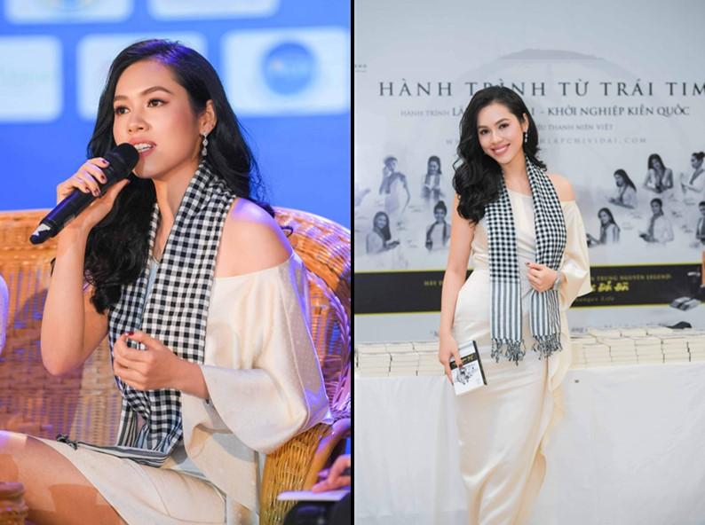Á hậu Hoàng My đang chia sẻ công thức thành công trong chương trình Hành trình từ Trái Tim – Hành trình Lập chí Vĩ đại – Khởi nghiệp Kiến quốc cho 30 triệu Thanh niên Việt