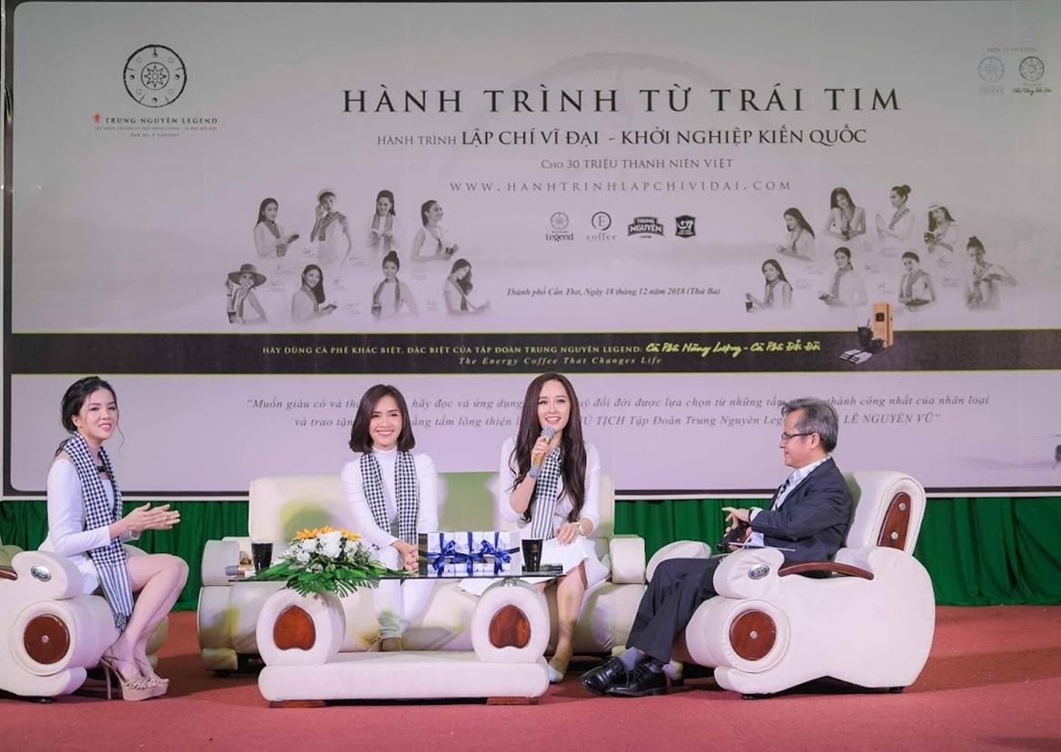 Hoa hậu Mai Phương Thúy, Ca sĩ Ái Phương và Hoa khôi Thúy Vi giao lưu, chia sẻ những câu chuyện của bản thân để truyền cảm hứng đến các bạn trẻ tại Cần Thơ
