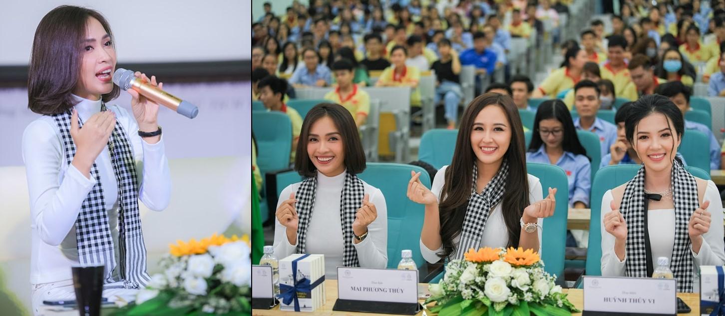 Ca sĩ Ái Phương đang chia sẻ công thức thành công trong chương trình Hành trình từ Trái Tim – Hành trình Lập chí Vĩ đại – Khởi nghiệp Kiến quốc