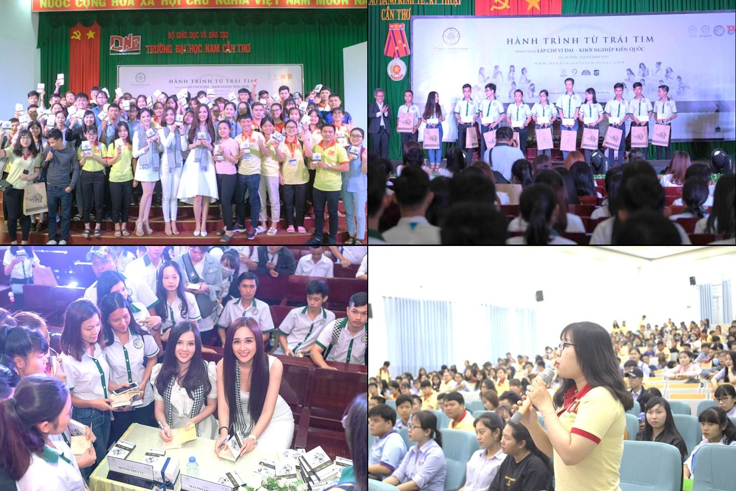Hành trình Từ Trái Tim đến các trường đại học tại Cần Thơ với sự tham gia của Hoa hậu Mai Phương Thúy, Ca sĩ Ái Phương và Hoa khôi Thúy Vi đã thu hút hàng trăm sinh viên và thanh niên tham dự