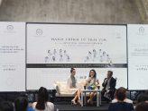 Hoa hậu Thùy Dung, Người đẹp Hồng Tuyết, giao lưu, chia sẻ những câu chuyện của bản thân để truyền cảm hứng đến các bạn trẻ tại không gian Bảo tàng Thế giới Cà phê.