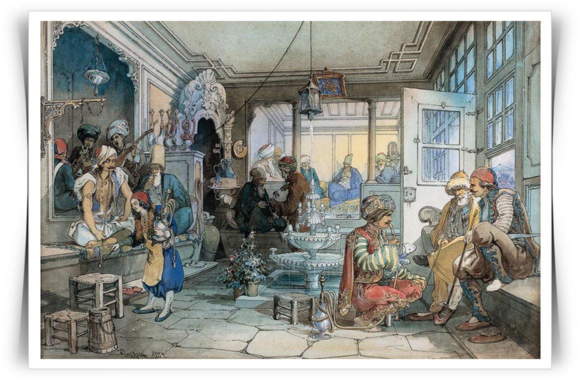 Kể từ năm 1532, các quán cà phê phát triển nhanh chóng và hoạt động như những không gian văn hóa, cung cấp và phổ biến các ý tưởng mới.
