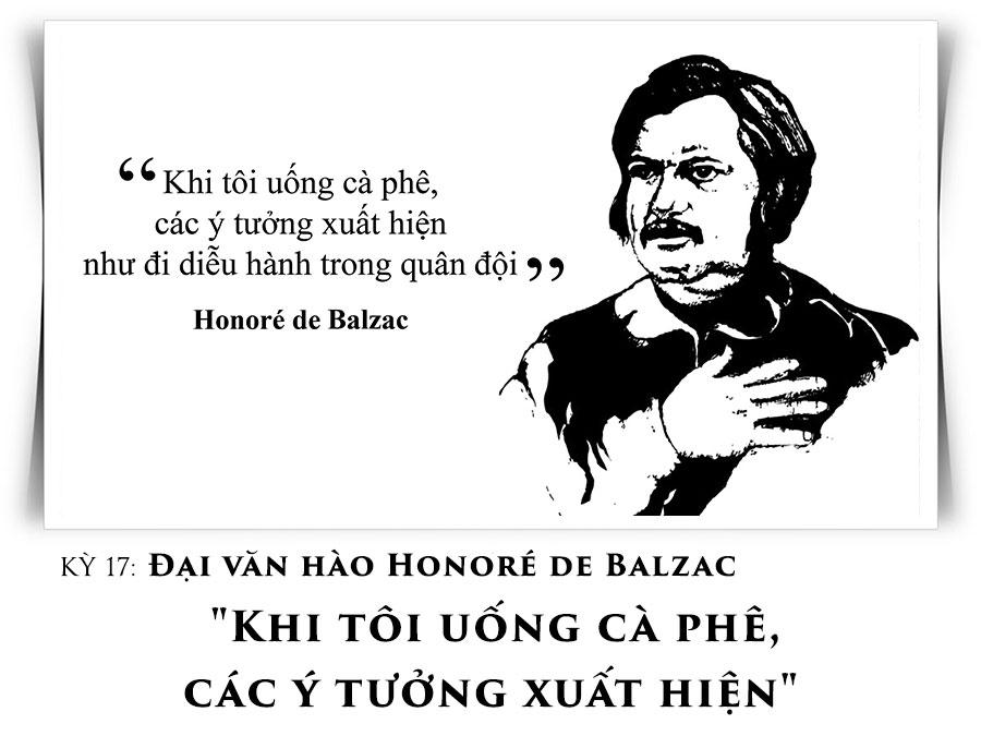 Đại văn hào Honoré de Balzac 'Khi tôi uống cà phê, các ý tưởng xuất hiện'