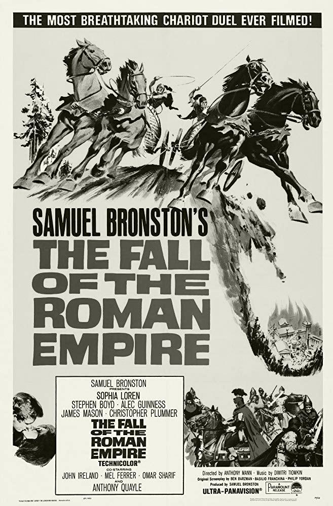 """Sự hưng thịnh, suy vọng của đế chế La Mã đã được dựng thành phim """"The fall of the roman empire""""- một trong những bộ phim thuộc Tủ phim Nền Tảng đổi đời do Tập đoàn Trung Nguyên Legend tuyển chọn."""